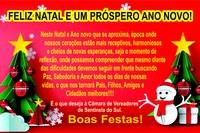 A Câmara Municipal de Vereadores Deseja uma Feliz Natal